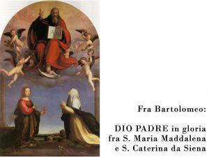 Dio Padre fra angeli e santi