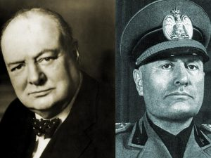 Churchill e Mussolini